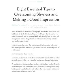 Eight Essential Tips to Overcoming Shyness and Making a Good Impression | zen habits | simple productivity