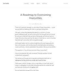 A Roadmap to Overcoming Insecurities