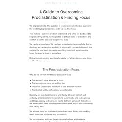 A Guide to Overcoming Procrastination & Finding Focus
