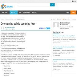 Overcoming public speaking fear