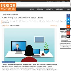 Advice for faculty members about overcoming resistance to teaching online