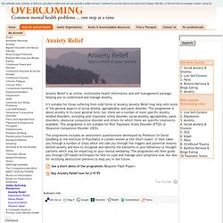 Overcoming | Overcoming Online Self-Help Resources | Anxiety Relief
