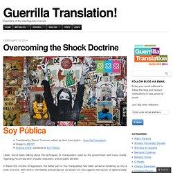 Overcoming the Shock Doctrine