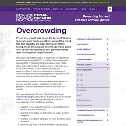 Prison overcrowding - Penal Reform International