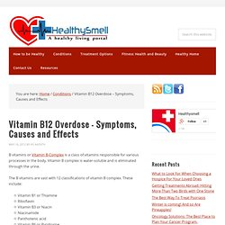 Vitamin B12 Overdose - Symptoms, Causes, Effects | HealthySmell