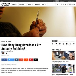 How Many Drug Overdoses Are Actually Suicides?