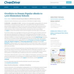 OverDrive to Donate Popular eBooks to 1,000 Elementary Schools