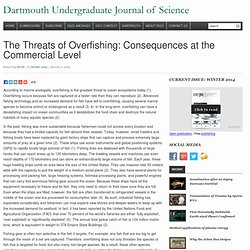 The Threats of Overfishing: Consequences at the Commercial Level