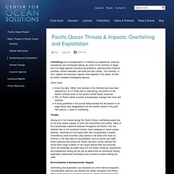 Pacific Ocean Threats & Impacts: Overfishing and Exploitation