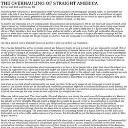 THE OVERHAULING OF STRAIGHT AMERICA -  By Marshall Kirk and Erastes Pill