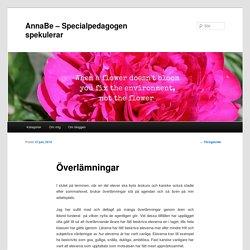 AnnaBe – Specialpedagogen spekulerar