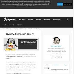Overlay jQuery - effetto popUp con finestra modale di dialogo