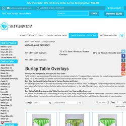 Jute Table Overlay