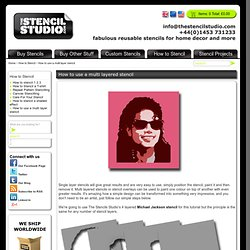 How to use a multi layered stencil. Stencil overlays. Michael Jackson multi layered stencil from The Stencil Studio. Stenciling Tutorials