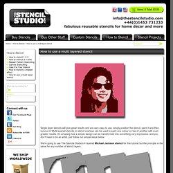 How to use a multi layered stencil. Stencil overlays. Michael Jackson multi layered stencil from The Stencil Studio. Stenciling Tutorials