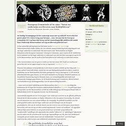 """Europese Commissie al in 1991: """"laten we onderwijs overleveren aan bedrijfsleven"""" « Kritische Studenten Utrecht"""