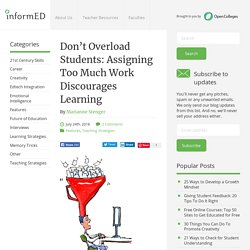 Don't Overload Students: Assigning Too Much Work Discourages Learning