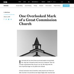 One Overlooked Mark of a Great Commission Church