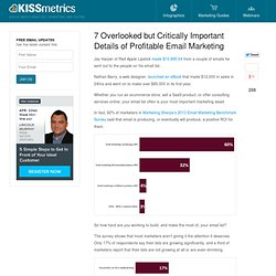 7 Overlooked but Critically Important Details of Profitable Email Marketing