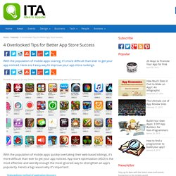 4 Overlooked Tips for Better App Store Success