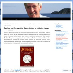 Overlord and Armageddon Books Written by Nicholas Hagger