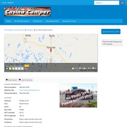 Casino Camper - Lac Vieux Desert Casino Overnight RV Parking Information