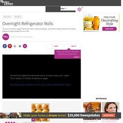 Overnight Refrigerator Rolls