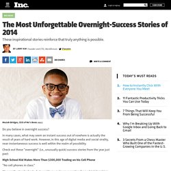 Top Overnight Success Stories of the Year