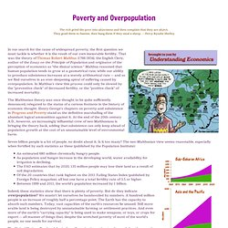 essay about poverty and overpopulation
