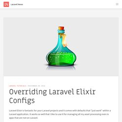 Overriding Laravel Elixir Configs