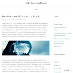 Best Overseas Education in Punjab
