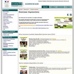 RUB. SITE Canopé Dijon : Overseas impressions (ressource numérique)