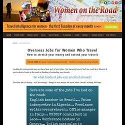 Overseas Jobs for Women Who Travel