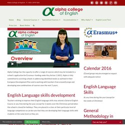 Overseas Teachers' Courses - Alpha College of English