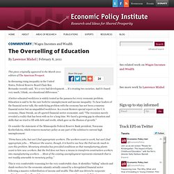 The Overselling of Education