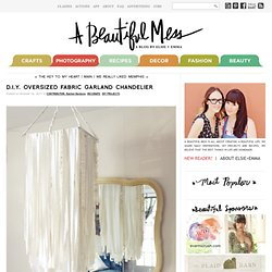 D.I.Y. Oversized Fabric Garland Chandelier