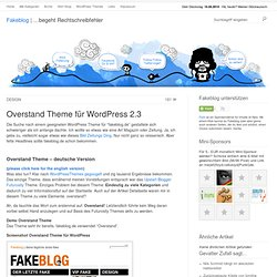 Overstand Theme für Wordpress 2.3