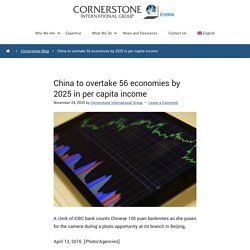 China To Overtake 56 Economies By 2025 In Per Capital Income