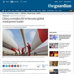 China overtakes EU to become global wind power leader