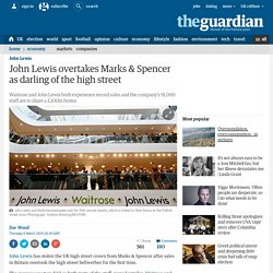 John Lewis overtakes Marks & Spencer as darling of the high street