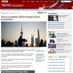 China overtakes US for foreign direct investment