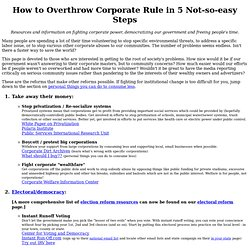 How to Overthrow Corporate Rule in 5 Not-so-easy Steps