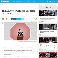 The 12 Most Overused Business Buzzwords