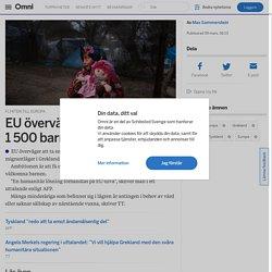 EU överväger att ta emot 1500 barn från läger