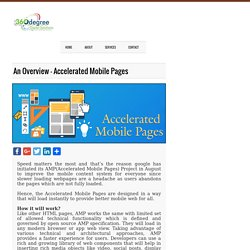An Overview – Accelerated Mobile Pages - 360 Degree Digital Solutions