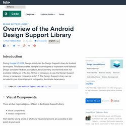 Overview of the Android Design Support Library - Tuts+ Code Article