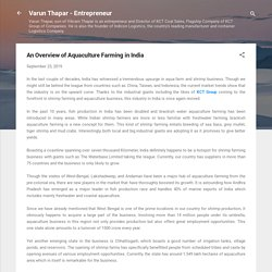 An Overview of Aquaculture Farming in India