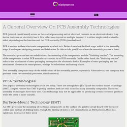 A General Overview On PCB Assembly Technologies