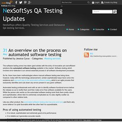 An overview on the process on automated software testing - NexSoftSys QA Testing Updates
