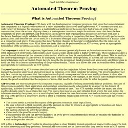 An Overview of Automated Theorem Proving